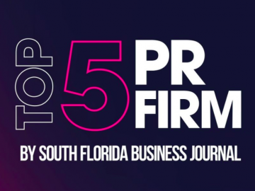 Top 5 PR firm, south florida business journal boardroompr,